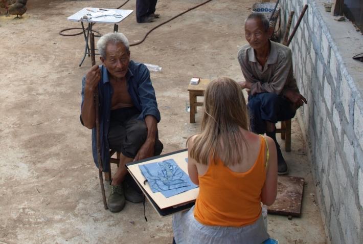 Sigrid Holmwood, Dongba, Naxi, Letra Salvaje